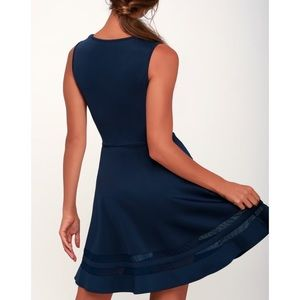 e39f62398e8 Lulu s Dresses - LuLu s Navy Blue Final Stretch Dress Medium